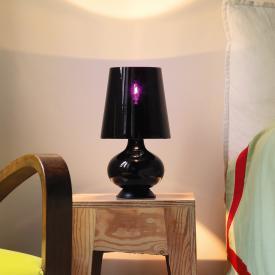 FontanaArte Fontana Total Black Tischleuchte mit Schalter für mehrere Lichtstärken