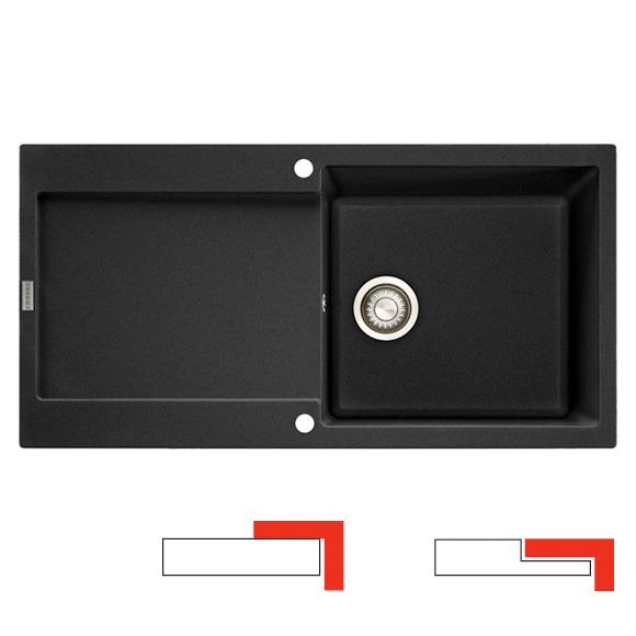 Franke Maris MRG 611-100 drehbare Spüle graphit