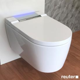 Geberit AquaClean Sela Wand-Dusch-WC Komplettanlage weiß/chrom hochglanz