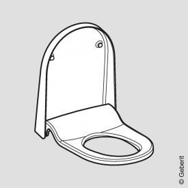 Geberit AquaClean Sela WC-Sitz mit WC-Deckel, mit Absenkautomatik