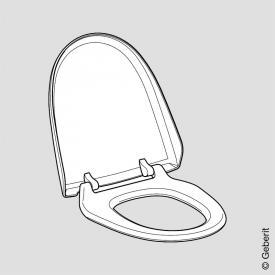 Geberit AquaClean WC-Sitz mit WC-Deckel