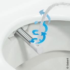 Geberit AquaClean WhirlSpray-Duschdüse zu AquaClean Sela Komplettanlage
