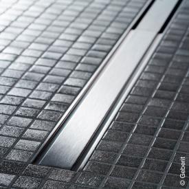 Geberit CleanLine 60 Duschrinne für dünne Bodenbeläge edelstahl gebürstet, für Duschrinne: 30 - 130 cm