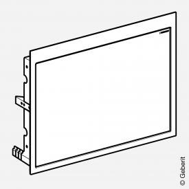 Geberit Fertigbauset für ONE Waschtisch, schwebendes Design rauchglas