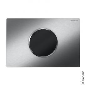 Geberit HyTronic WC-Steuerung Sigma10, berührungslos, Batteriebetrieb edelstahl gebürstet/edelstahl poliert/edelstahl gebürstet