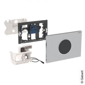 Geberit HyTronic WC-Steuerung Sigma10, berührungslos, Batteriebetrieb, verschraubbar edelstahl gebürstet