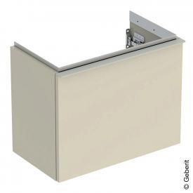 Geberit iCon Handwaschbeckenunterschrank mit 1 Auszug Front sandgrau hochglanz / Korpus sandgrau hochglanz, Griff sandgrau matt