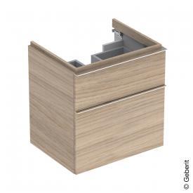 Geberit iCon Waschtischunterschrank mit 2 Auszügen Front eiche natur/Korpus eiche natur
