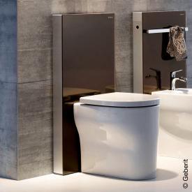 Geberit Monolith Plus Sanitärmodul für Stand-WC, H: 101 cm Glas umbra