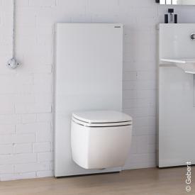 Geberit Monolith Plus Sanitärmodul für Wand-WC, H: 114 cm Glas weiß