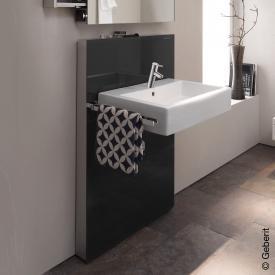 Geberit Monolith Sanitärmodul für Waschtisch, H: 114,5 cm, für Standarmatur, ohne Auszug Glas schwarz