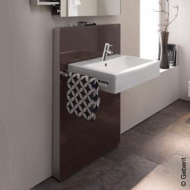Geberit Monolith Sanitärmodul für Waschtisch, für Standarmatur, ohne Auszug Glas umbra