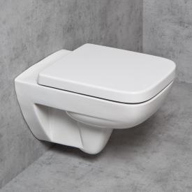 Geberit Renova Plan & Tellkamp Premium 2000 Wand-WC-SET: WC ohne Spülrand, mit KeraTect, WC-Sitz mit Absenkautomatik