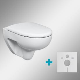 Geberit Renova & Tellkamp Premium 3000 WC-SET mit Zubehör: WC mit Spülrand, mit KeraTect, WC-Sitz mit Absenkautomatik