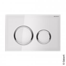 Geberit Sigma21 Betätigungsplatte für 2-Mengen-Spülung weiß/chrom hochglanz