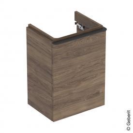 Geberit Smyle Square Handwaschbeckenunterschrank mit 1 Tür nussbaum