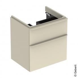 Geberit Smyle Square Waschtischunterschrank mit 2 Auszügen sandgrau hochglanz