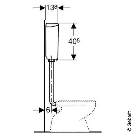 Geberit AP-Spülkasten AP140 mit Spül-Stopp-Spülung, für Druckspüler weiß