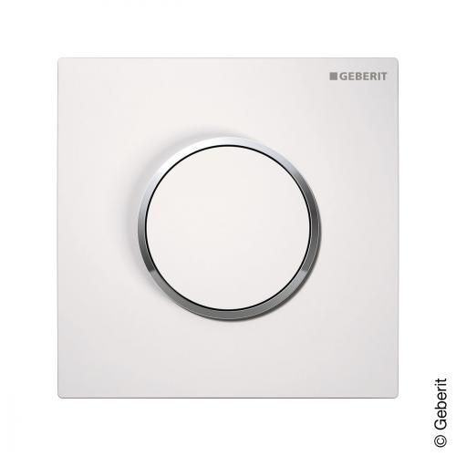 Geberit Sigma 10 Urinal-Handauslösung  pneumatisch weiß/chrom hochglanz/weiß