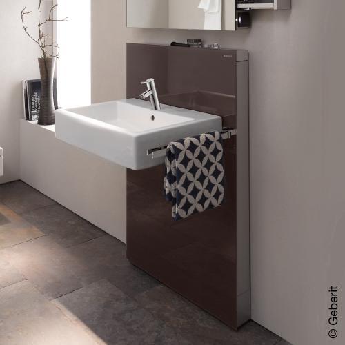 geberit monolith sanit rmodul f r waschtisch f r standarmatur auszug rechts glas umbra. Black Bedroom Furniture Sets. Home Design Ideas