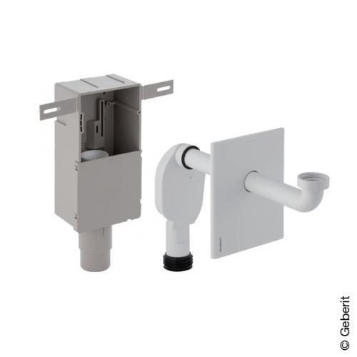 Geberit UP-Geruchsverschluss für Waschbecken, mit Wandeinbaukasten weiß