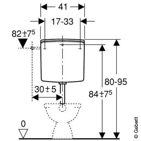Geberit AP-Spülkasten AP140 mit Spül-Stopp-Spülung, Deckel verschraubt