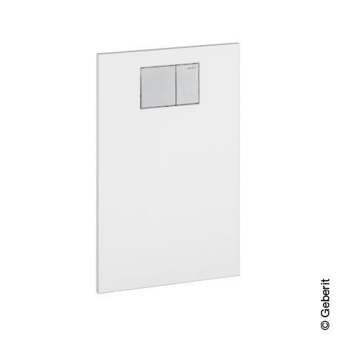 geberit aquaclean designplatte aus glas f r aufs tze an geberit up sp lkasten wei glas. Black Bedroom Furniture Sets. Home Design Ideas