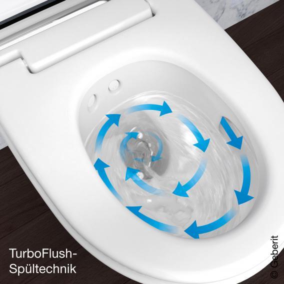 Geberit AquaClean Mera Comfort Dusch-WC Komplettanlage, mit WC-Sitz weiß