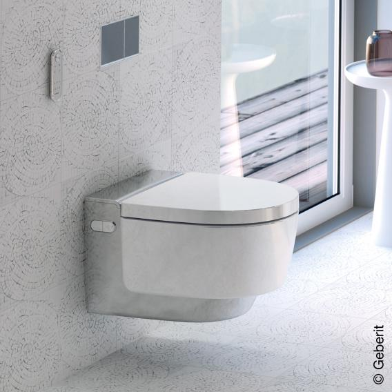 Geberit AquaClean Mera Comfort Dusch-WC Komplettanlage, mit WC-Sitz weiß/chrom