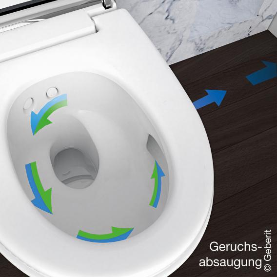 Geberit AquaClean Mera Comfort Dusch-WC Komplettanlage weiß/chrom