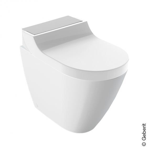 Geberit AquaClean Tuma Comfort Stand-Dusch-WC Komplettanlage, mit WC-Sitz weiß/edelstahl gebürstet