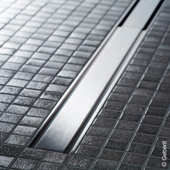 Geberit CleanLine 60 Duschrinne für dünne Bodenbeläge edelstahl gebürstet, für Duschrinne: 30 - 90 cm