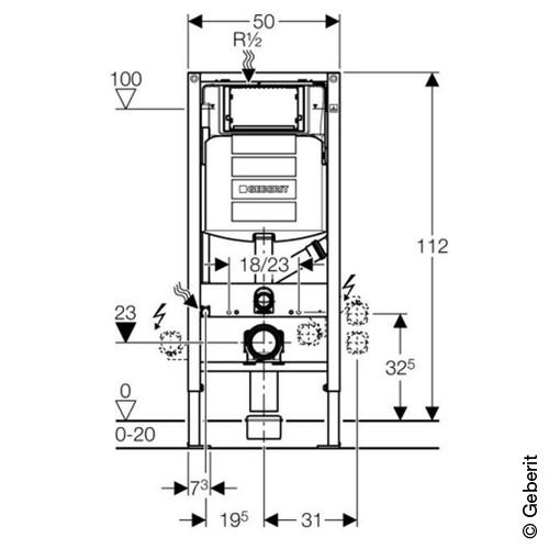 Geberit Duofix Wand Wc Element H 112 Cm Mit Up Spk Up320 Fur