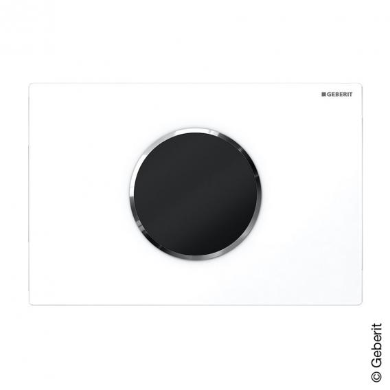 Geberit HyTronic WC-Steuerung Sigma10, berührungslos, Batteriebetrieb weiß/chrom