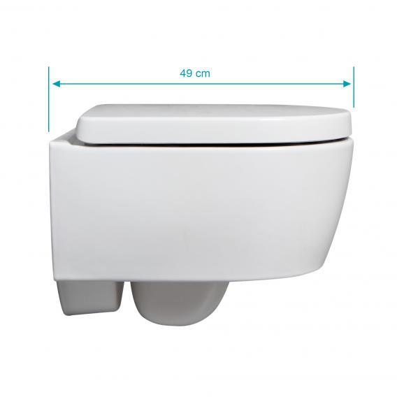 Geberit iCon & Tellkamp Premium 1000 Wand-WC-SET kurz: WC mit Spülrand, mit KeraTect, WC-Sitz mit Absenkautomatik
