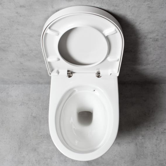 Geberit iCon & Tellkamp Premium 1000 Wand-WC-SET: WC ohne Spülrand, mit KeraTect, WC-Sitz mit Absenkautomatik