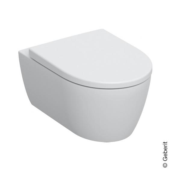 Geberit iCon Wand-Tiefspül-WC mit WC-Sitz weiß, mit KeraTect