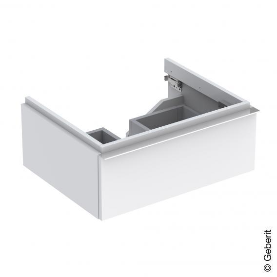 Geberit iCon Waschtischunterschrank mit 1 Auszug Front und Korpus Alpin hochglanz