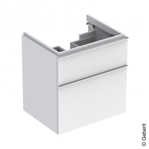 Geberit iCon Waschtischunterschrank mit 2 Auszügen Front alpin matt / Korpus alpin matt