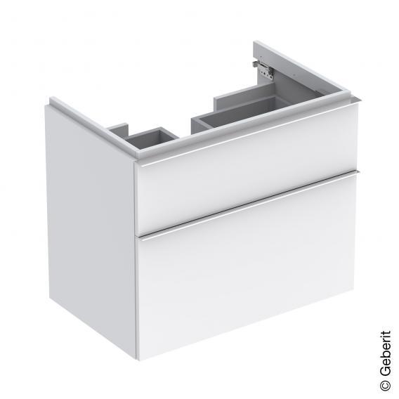 Geberit iCon Waschtischunterschrank mit 2 Auszügen Front und Korpus Alpin hochglanz