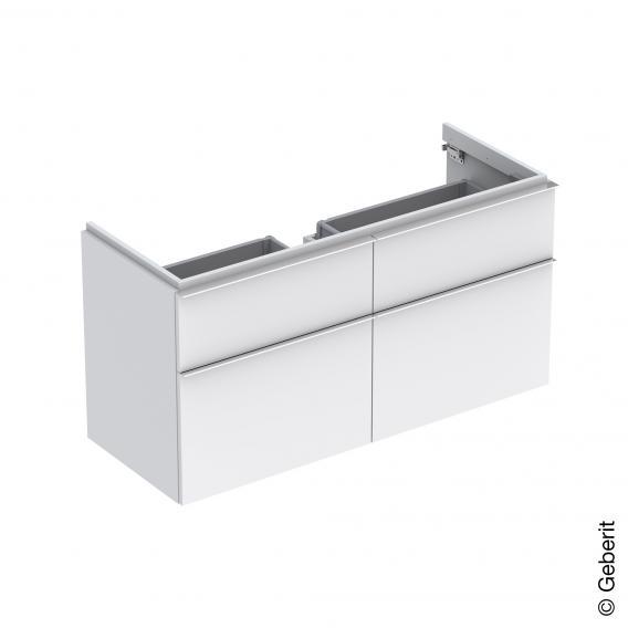 Geberit iCon Waschtischunterschrank mit 4 Auszügen für Doppelwaschtisch Front alpin matt / Korpus alpin matt