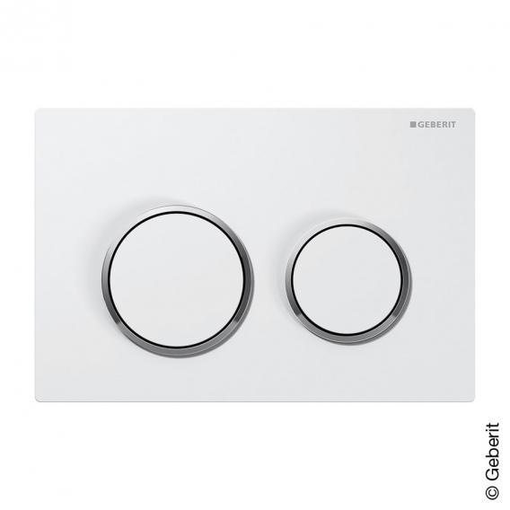 Geberit Kappa21 Betätigungsplatte für 2-Mengen-Spülung weiß/chrom/weiß