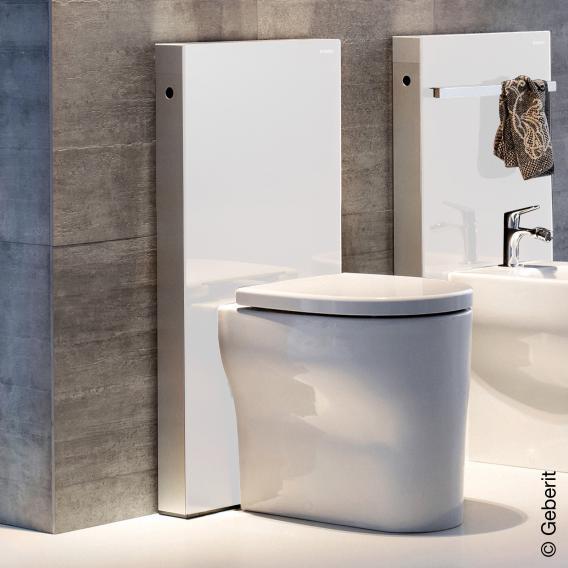 Geberit Monolith Sanitärmodul für Stand-WC H: 101 cm, Glas weiß