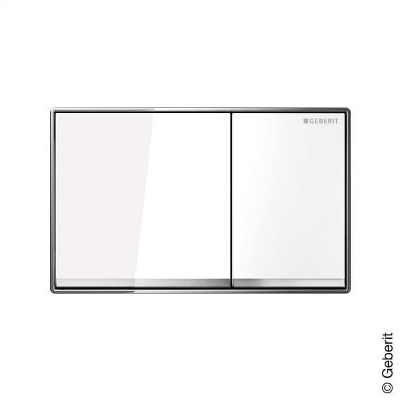Geberit Omega60 Betätigungsplatte für 2-Mengen-Spülung glas weiß