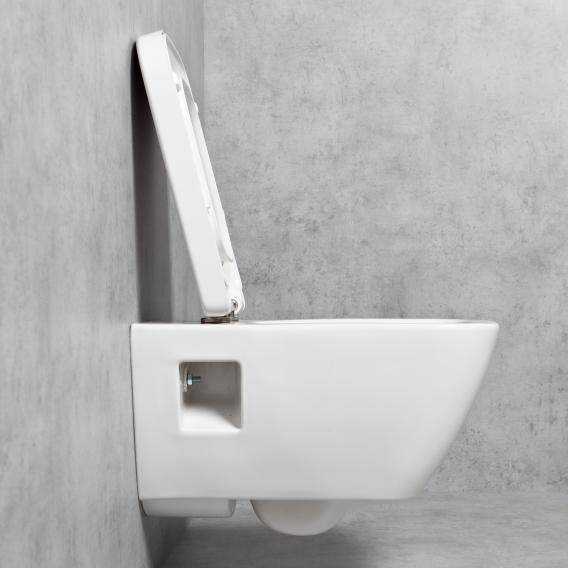 Geberit Renova Plan & Tellkamp Premium 2000 Wand-WC-SET ohne Spülrand: WC mit KeraTect, WC-Sitz mit Absenkautomatik