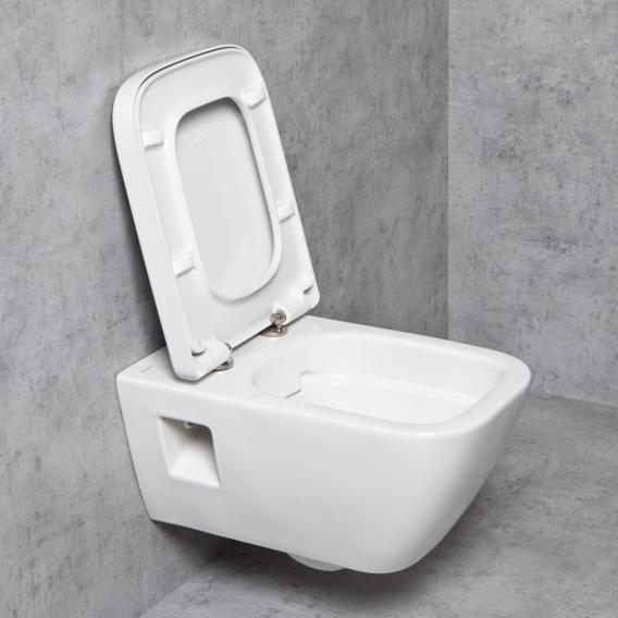 Geberit Renova Plan & Tellkamp Premium 2000 Wand-WC-SET ohne Spülrand: WC mit KeraTect, WC-Sitz ohne Absenkautomatik