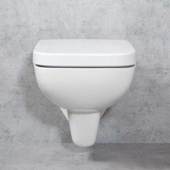 Geberit Renova Plan & Tellkamp Premium 2000 Wand-WC-SET: WC ohne Spülrand, mit KeraTect, WC-Sitz ohne Absenkautomatik