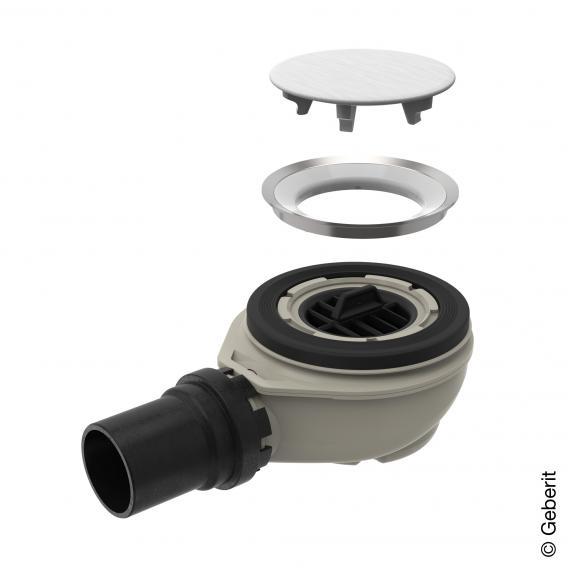Geberit Setaplano Ablaufgarnitur Komplett-Set, Sperrwasserhöhe 50 mm