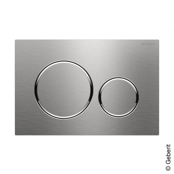 Geberit Sigma20 Betätigungsplatte für 2-Mengen-Spülung, verschraubbar edelstahl gebürstet/edelstahl poliert