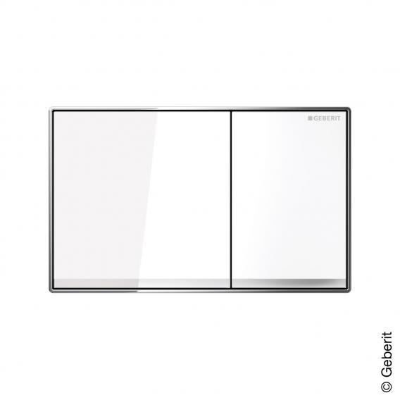 Geberit Sigma60 Betätigungsplatte für 2-Mengen-Spülung, flächenbündig Glas weiß